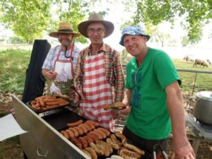 Grilled sausages at Hamilton Picnic