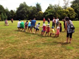 Tug of war at Hamilton Picnic